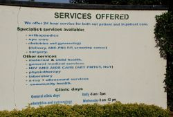 Specialities sign